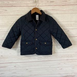 Gymboree Quilted Jacket 4T-5T Black Pockets